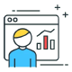 rank tracking and traffic analysis icon