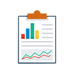 Traffic and rank analysis icon